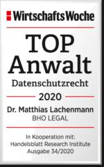 WiWo_TOPAnwalt_Datenschutzrecht_2020_Dr_Matthias_Lachenmann