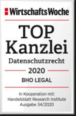 WiWo_TOPKanzlei_Datenschutzrecht_2020_BHO_LEGAL